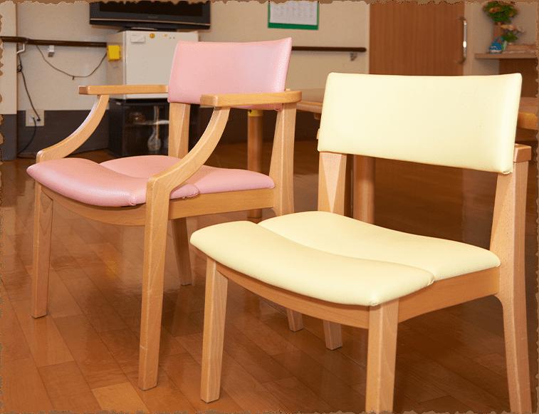 写真:工夫した椅子